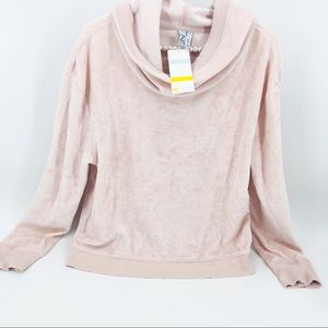 NWT Zella Blush Pink French Terry L/S Hoodie XL